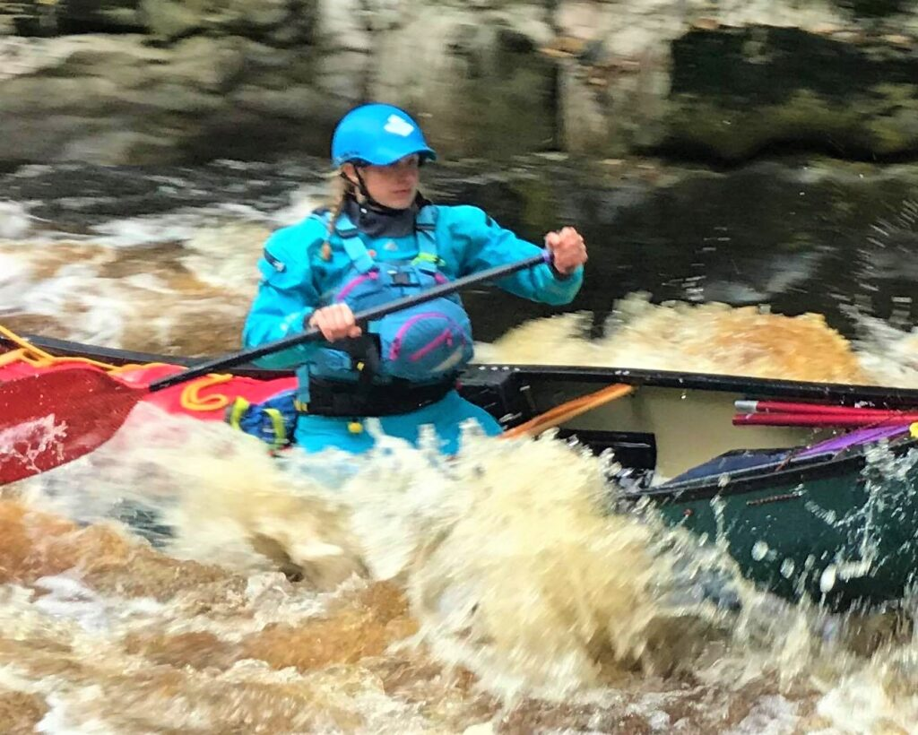 Jenna Paddling Abbey Rapids