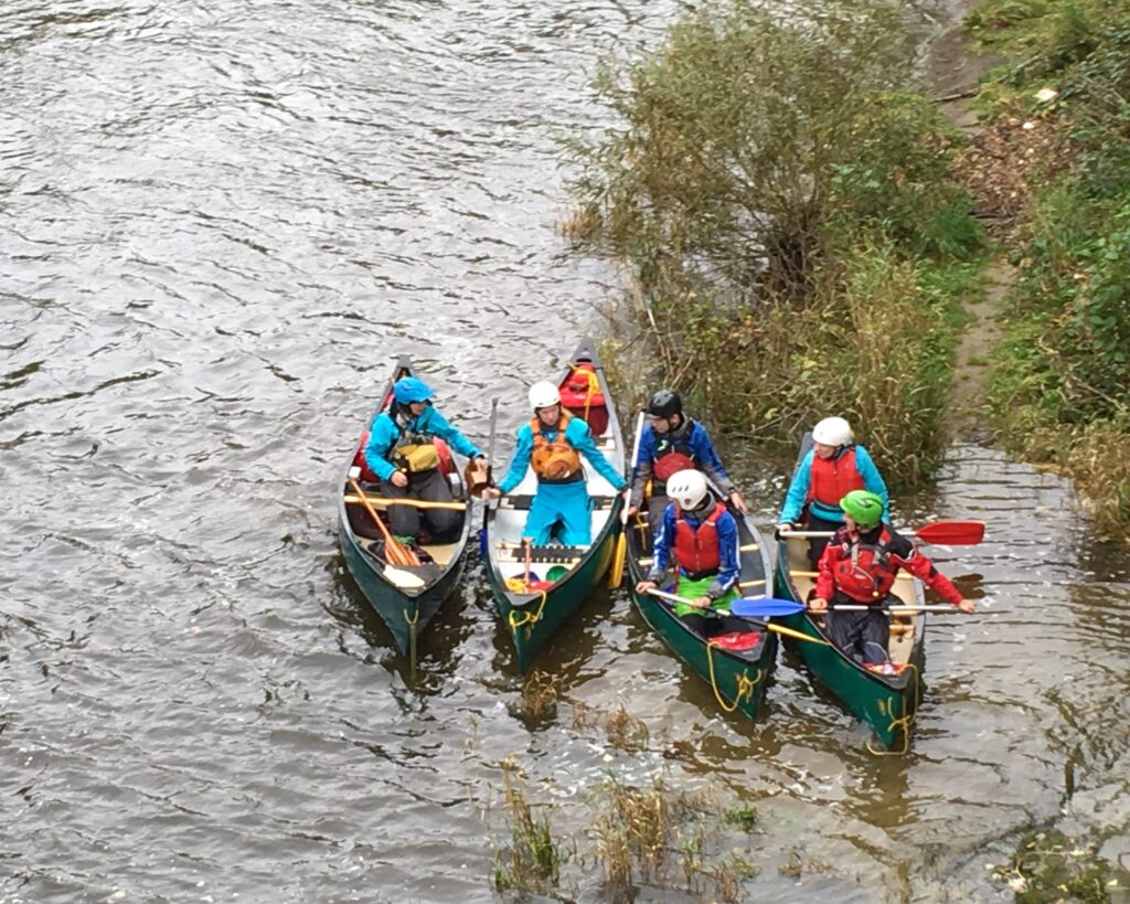 Canoe Coaching on the Severn