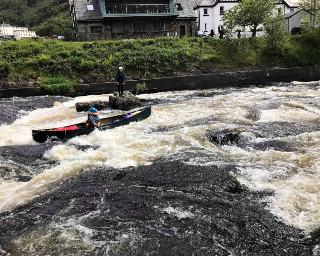 Jenna White Water Canoing at Kinlochleven