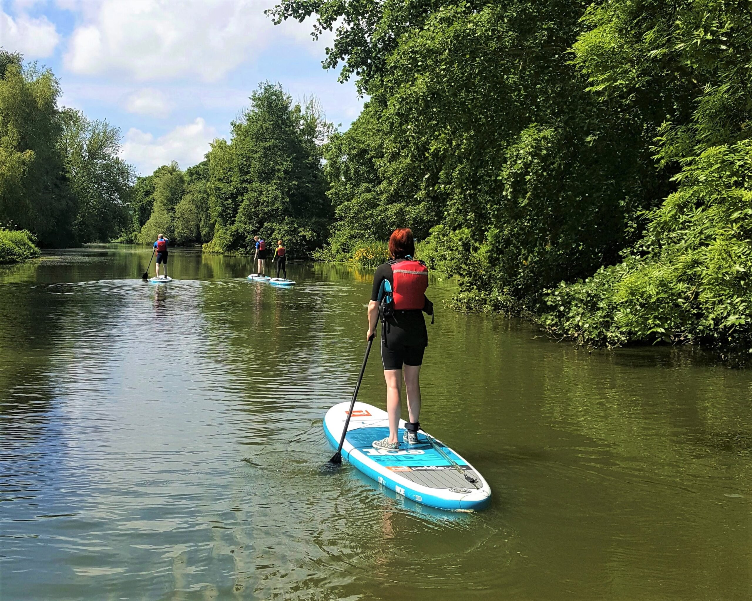 Family SUP lesson in Wawrickshire