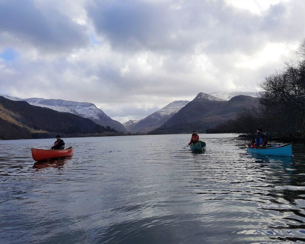 Canoeing on Llyn Padarn